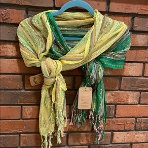 Yellow and green scarves